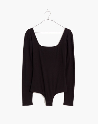 Madewell Square-Neck Thong Bodysuit