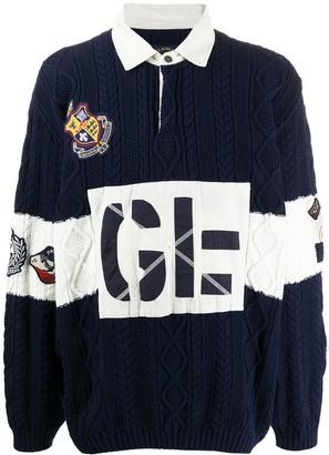 Greg Lauren X Paul & Shark Logo Colour-Block Polo Shirt