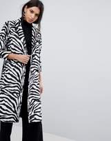 Helene Berman Zebra Print College Coat