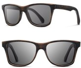 Shwood Men's 'Canby' 54Mm Polarized Wood Sunglasses - Dark Walnut/ Grey