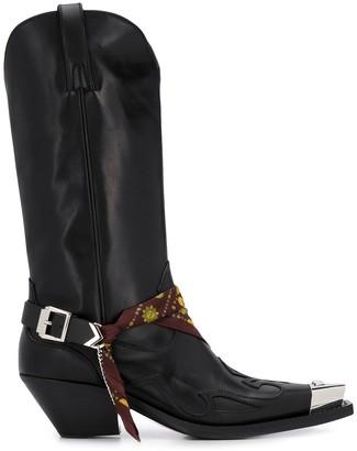 Versace Medusa Western boots