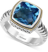 Effy BALISSIMA by Blue Topaz (4-2/3 ct. t.w.) Ring in 18k Gold and Sterling Silver