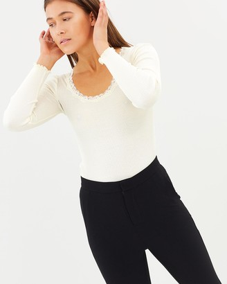 Grace Willow Ammy Silk & Cotton Seamless Lace Top