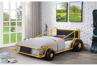 Zoomie Kids Toccoa Twin Platform Bed Bed Frame Color: Yellow