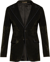 Bottega Veneta Single-breasted bushed-velvet blazer