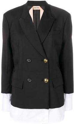 No.21 Double Breasted Layered Jacket