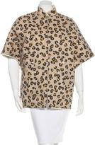 A.P.C. Leopard Print Short Sleeve Jacket