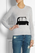 Burberry Taxi-intarsia wool and cashmere-blend sweater