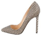 Christian Louboutin Satin Strass Pigalle 120 Pumps