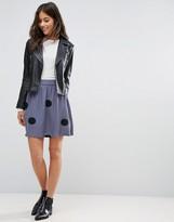 Pieces Helen Polka Dot Skirt