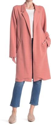 MelloDay Notch Lapel Long Knit Jacket