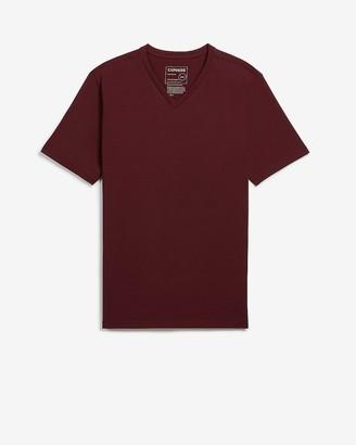 Express Slim Solid Moisture-Wicking V-Neck T-Shirt