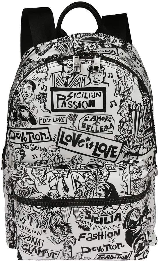 Dolce & Gabbana Graffiti Backpack