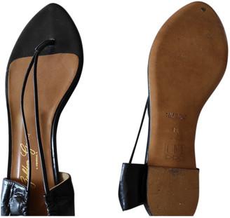 Golden Goose Black Leather Sandals