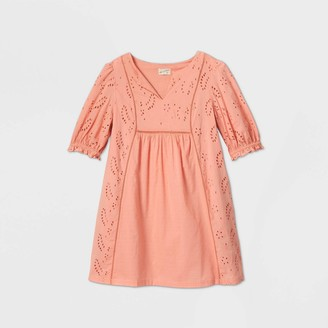 Universal Thread Woen's Balloon Elbow Sleeve Eyelet Dress - Universal ThreadTM