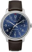 Timex Style Men's Blue Dial Brown Leather Strap Watch