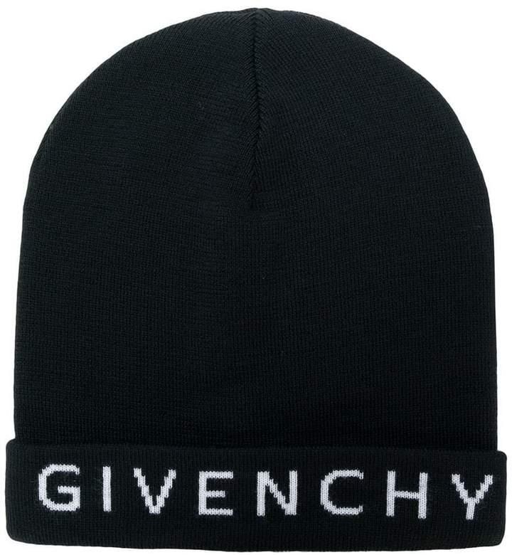 Givenchy logo beanie hat