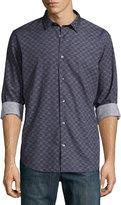 Vince Melrose Button-Down Printed Shirt, Indigo