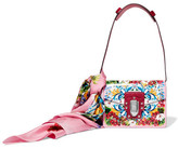 Dolce & Gabbana Lucia Printed Textured-leather And Watersnake Shoulder Bag And Silk-twill Scarf Set - one size