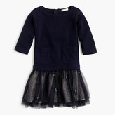 J.Crew Girls' embellished sweatshirt tulle dress