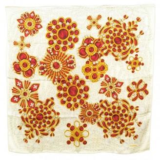 Chanel Ecru Silk Scarves