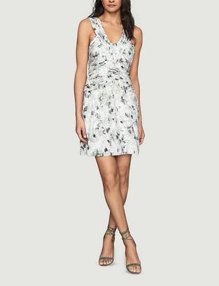 Reiss Gwen V-neck floral-print woven mini dress