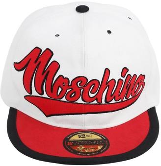 Moschino Logo Embroidery Cotton Cap