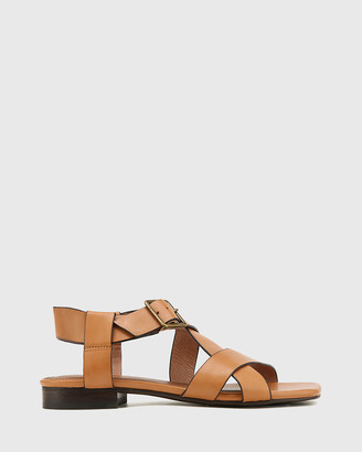Wittner - Women's Brown Sandals - Aneese Leather Flat Sandals - Size One Size, 38 at The Iconic