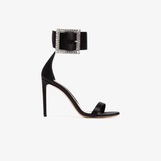 Alexandre Vauthier Yasmin 100 silk crystal buckle sandals