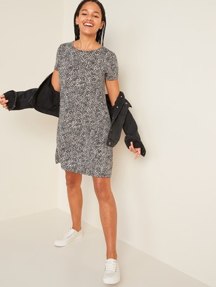 Old Navy Printed Jersey-Knit Swing Dress for Women