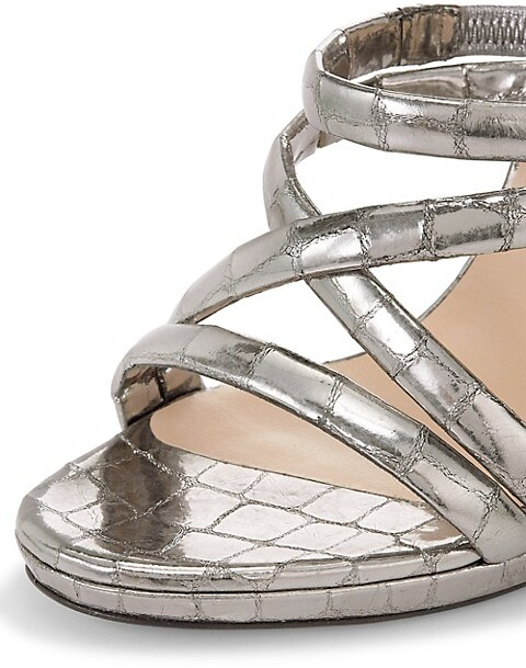 Thumbnail for your product : Christian Louboutin Cleissimo Metallic Croc-Embossed Leather Sandals