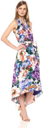 Chetta B Women's Tropical Print Halter Dress