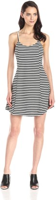 Olive + Oak Olive & Oak Women's Stripe Strappy Fit and Flare Dress