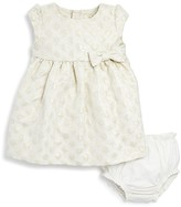Kate Spade Infant Girls' Metallic Dot Jacquard Dress & Bloomer Set - Sizes 6-24 Months