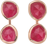 Monica Vinader Siren jacket 18ct rose gold-plated and pink quartz earrings