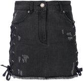 Versus Zayn x lace up mini skirt - women - Cotton/Spandex/Elastane - 40