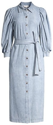 Lafayette 148 New York Mia Denim Midi Shirtdress
