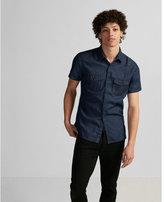 Express short sleeve western denim shirt