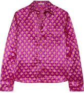 Miu Miu Metallic Jacquard Shirt - Magenta