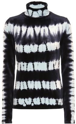 Proenza Schouler Tie-dye velvet top