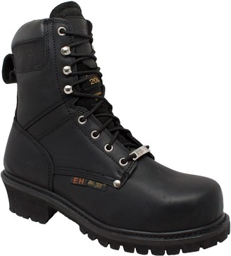 "AdTec Mens 9"" Super Logger with Steel-Toe Waterproof Goodyear Welt Leather Utility Boot 200g"