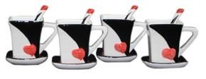 Orient Three Star Heart Style Mugs 4 Piece