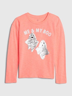 Gap Kids Flippy Sequin Halloween Graphic T-Shirt