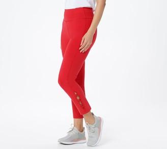 Susan Graver Weekend Petite Premium Stretch Pull-On Crop Pants