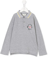Fendi printed logo polo shirt