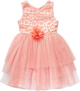 Youngland Young Land Sleeveless Lace Mesh Occasion Dress - Preschool Girls 4-6x