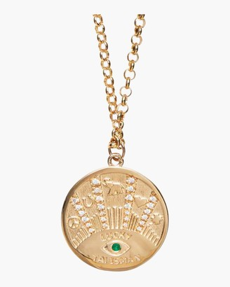 Marlo Laz Talisman Coin Necklace