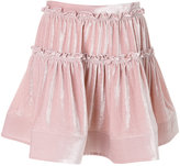 Alberta Ferretti gathered layered mini skirt