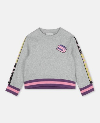 Stella Mccartney Kids Stella McCartney logo cot/poly sport sweatshirt
