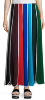 Rosie Assoulin Umbrella Colorblock Silk Skirt, Multi
